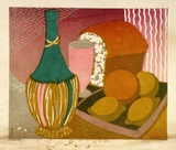 Artist: HIGGS, Florence | Title: Still life | Date: c.1955 | Technique: linocut, printed in colour, from five blocks