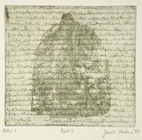 Artist: NEILSON, Janet | Title: Bell 3 | Date: 1997 | Technique: etching and aquatint, printed in colour, from two plates