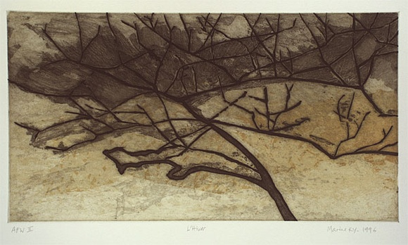 Artist: KY, Marine | Title: L'Hiver (#1) | Date: 1996, August | Technique: etching and aquatint, printed in colour, from two plates
