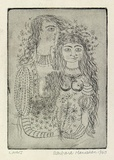 Artist: HANRAHAN, Barbara | Title: Lovers | Date: 1960 | Technique: etching, printed in black ink, from one plate