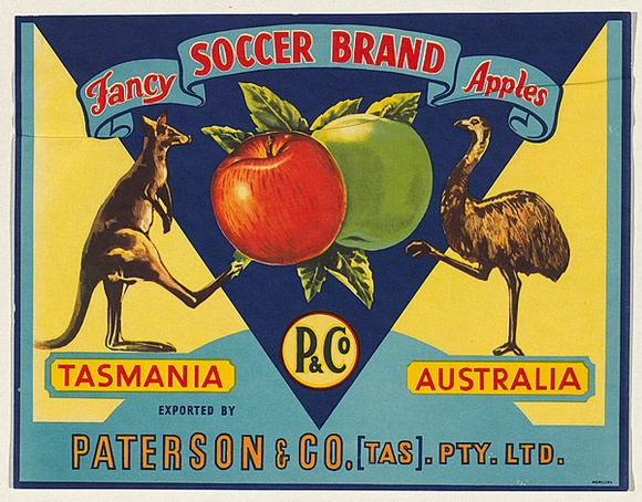 Title: Label for Fancy soccer brand apples [fruit crate label] | Date: 1900s | Technique: offset-lithograph, printed in colour, from multiple stones