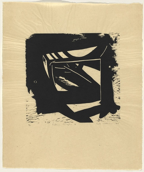 Artist: WITHERS, Rod | Title: Fallen angels X | Date: 1983 | Technique: woodcut, printed in black ink, from one block