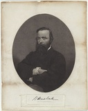 Title: R. O'Hara Burke. | Date: 1861 | Technique: mezzotint engraving, printed in black ink, from one copper plate