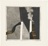 Artist: BALDESSIN, George | Title: Factory smoke. | Date: 1968 | Technique: colour etching and aquatint