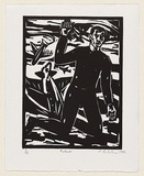Artist: BELVEDERE, Dominic | Title: Fallout | Date: 1999 | Technique: linocut, printed in black ink, from one block
