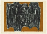 Artist: BROWN, Geoffrey | Title: Social Gathering. | Date: c.1968 | Technique: etching, printed in black ink, from one plate