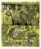 Artist: HANRAHAN, Barbara | Title: Dream people | Date: 1975 | Technique: etching, printed in colour with plate-tone