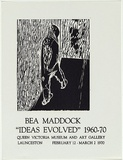 Artist: MADDOCK, Bea | Title: Exhibition poster: Bea Maddock Ideas evolved 1960-70 | Date: 1970 | Technique: process block and letterpress