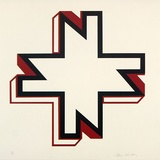 Artist: NIXON, John | Title: (N for Nixon) | Date: c.1969 | Technique: screenprint, printed in colour, from multiple stencils