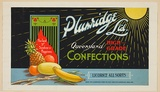 Artist: BURDETT, Frank | Title: Label: Plumridge Ltd, confections. | Date: 1926 | Technique: lithograph, printed in colour, from multiple stones [or plates]
