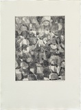 Artist: MADDOCK, Bea | Title: N.F. | Date: 1972 | Technique: etching and aquatint with burnishing, printed in black ink, from one zinc plate