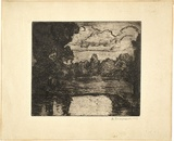 Artist: PRESTON, Margaret | Title: Evening | Date: 1916 | Technique: etching, printed in brown ink with plate-tone, from one plate | Copyright: © Margaret Preston. Licensed by VISCOPY, Australia