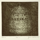 Artist: NEILSON, Janet | Title: Bell #2 | Date: 1997 | Technique: etching and aquatint, printed in colour, from two plates