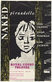 Artist: CILENTO, Margaret | Title: Naked Pirandello, Royal Court Theatre, London. | Date: 1963 | Technique: offset-lithograph, printed in colour, from five stencils