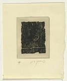 Artist: SELLBACH, Udo | Title: (Jagged block) | Date: 1966 | Technique: etching, printed in black ink, from one plate