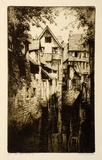 Artist: FRIEDENSEN, Thomas | Title: Caudebec, Normandy. | Date: 1929 | Technique: etching and aquatint, printed in black ink, from one plate