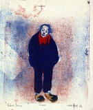 Artist: GRIEVE, Robert | Title: Clown | Date: 1958 | Technique: lithograph, printed in colour, from multiple stones