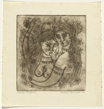 Artist: HANRAHAN, Barbara | Title: Beauty's daughters | Date: 1960 | Technique: softground etching, printed in black ink with plate-tone, from one plate