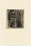 Artist: HANRAHAN, Barbara | Title: Daphnis and Ganymede | Date: 1961 | Technique: drypoint, printed in black ink with plate-tone, from one plate
