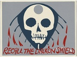 Artist: UNKNOWN | Title: Recall the Dalkon Shield | Date: c.1980 | Technique: screenprint, printed in colour, from three stencils