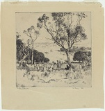 Artist: FULLWOOD, A.H. | Title: The picnic. | Date: 1923 | Technique: etching, printed in black ink, from one plate