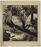 Artist: BLACKBURN, Vera | Title: Pattern. | Date: 1936, August | Technique: linocut, printed in black ink, from one block | Copyright: © Vera Blackburn