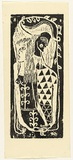 Artist: HANRAHAN, Barbara | Title: Harlequin and Columbine | Date: 1960 | Technique: woodcut, printed in black ink, from one block