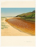 Artist: ROSE, David | Title: At Frazer beach | Date: 1986 | Technique: screenprint, printed in colour, from multiple stencils