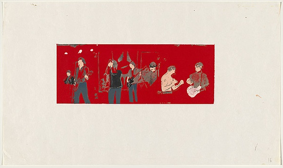 Artist: JOHNSON, Tim | Title: Radio Birdman | Date: 1979 | Technique: screenprint, printed in colour, from multiple stencils | Copyright: © Tim Johnson