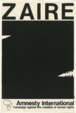 Artist: GIBSON, | Title: Zaire - Amnesty International | Date: (1978-80) | Technique: screenprint