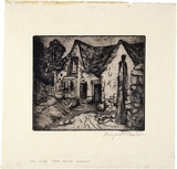 Artist: PRESTON, Margaret | Title: Old house | Date: 1916 | Technique: etching, printed in warm black ink with plate-tone, from one plate | Copyright: © Margaret Preston. Licensed by VISCOPY, Australia