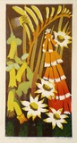 Artist: HIGGS, Florence | Title: Australian wildflowers | Date: c.1954 | Technique: linocut, printed in colour, from seven blocks