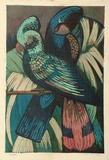 Artist: HIGGS, Florence | Title: Parrots | Date: c.1956 | Technique: linocut, printed in colour, from five blocks