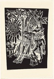 Artist: HANRAHAN, Barbara | Title: Falling girl | Date: 1988 | Technique: linocut, printed in black ink, from one block