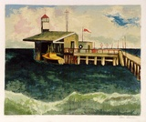 Artist: SUMNER, Alan | Title: R.A.A.F. pier, Point Cook | Date: 1946 | Technique: screenprint, printed in colour, from 17 stencils