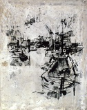 Artist: GRIEVE, Robert | Title: Around the harbour | Date: 1959 | Technique: lithograph on hard grained aluminium plate