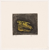 Artist: ARCHER, Suzanne | Title: Hack | Date: 2004 | Technique: etching and aquatint, printed black ink, from one plate; additional colouring through stencil