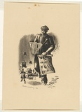 Artist: MISSINGHAM, Hal | Title: London Newsboy | Date: c.1935 | Technique: lithograph, printed in black ink, from one stone [or plate]