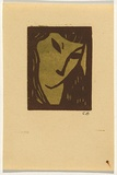 Artist: BELL, George | Title: (Face). | Technique: linocut, printed in colour, from two blocks