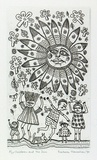 Artist: HANRAHAN, Barbara | Title: Children and the sun | Date: 1990 | Technique: etching, printed in black, with plate-tone, from one plate