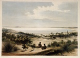 Artist: ANGAS, George French | Title: Lake Albert. | Date: 1846-47 | Technique: lithograph, printed in colour, from multiple stones; varnish highlights by brush