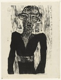 Artist: HANRAHAN, Barbara | Title: Figure | Date: 1962 | Technique: woodcut, printed in black ink, from one block
