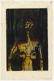 Artist: HANRAHAN, Barbara | Title: Male figure | Date: 1964 | Technique: woodcut, printed in colour, from three blocks