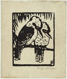 Artist: PRESTON, Margaret | Title: Kookaburras | Date: 1923 | Technique: woodcut, printed in black ink, from one block | Copyright: © Margaret Preston. Licensed by VISCOPY, Australia