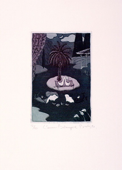 Artist: BROOKS, Ron | Title: L'amour botanique. | Date: 1990 | Technique: etching and aquatint, printed in colour with plate-tone, from one plate