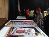 Artist: PRINT COUNCIL OF AUSTRALIA | Title: Sharron Okines views political poster at Ballarat Art Gallery, part of the Big Day Out organised by the Print Council of Australia, 25 February 2017. | Date: 2017