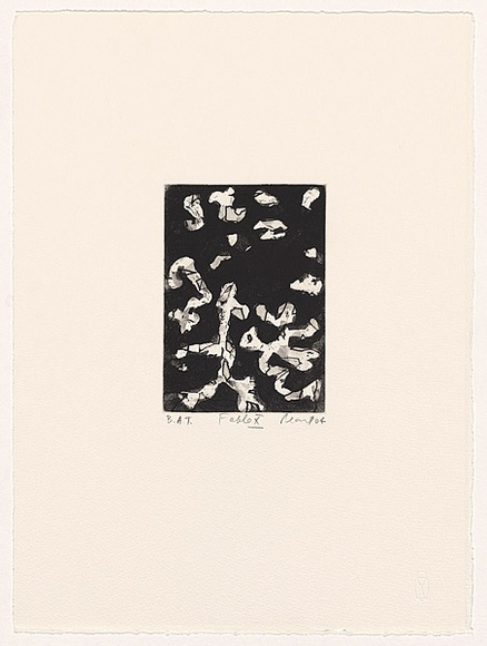 Artist: PEART, John | Title: Fable X | Date: 2004 | Technique: etching, aquatint and open-bite, printed in black ink, from one plate