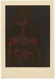 Artist: HANRAHAN, Barbara | Title: Female figure | Date: 1964 | Technique: etching, printed in colour from two  plates