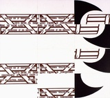 Artist: RAMSDEN, Mel | Title: Fasces. Part II (mosaic of postcards). | Date: 1977 | Technique: lithograph, printed in black ink, from one stone [or plate]