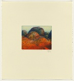 Title: Valley of the Winds, Kata Tjuta,  Northern Territory | Date: 1989 | Technique: etching, printed in blue and orange ink, from one plate